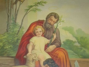 saint Joseph and Jesus